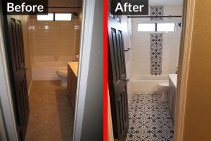 Before and After - Bathroom Remodel 1