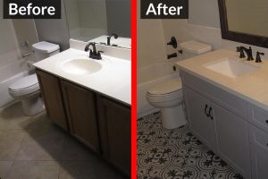 Before and After - Bathroom Remodel 2
