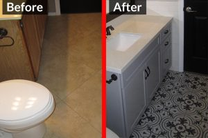 Before and After - Bathroom Remodel 3